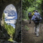 Hiking in the woods at Natural Bridge